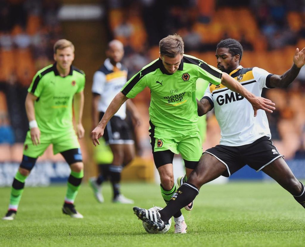 Jed Wallace in first half action against officialpvfc  PVLvWOLhellip