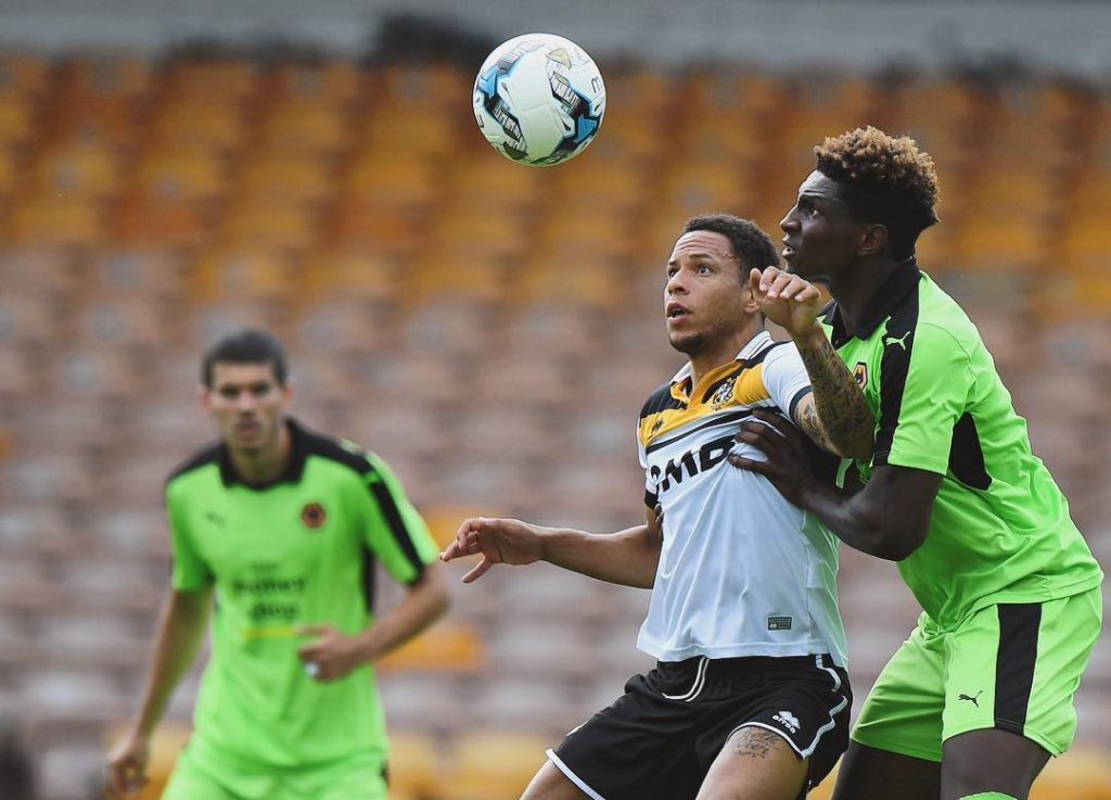 korts30haus in action against officialpvfc this afternoon PVLvWOL Wolves WWFChellip