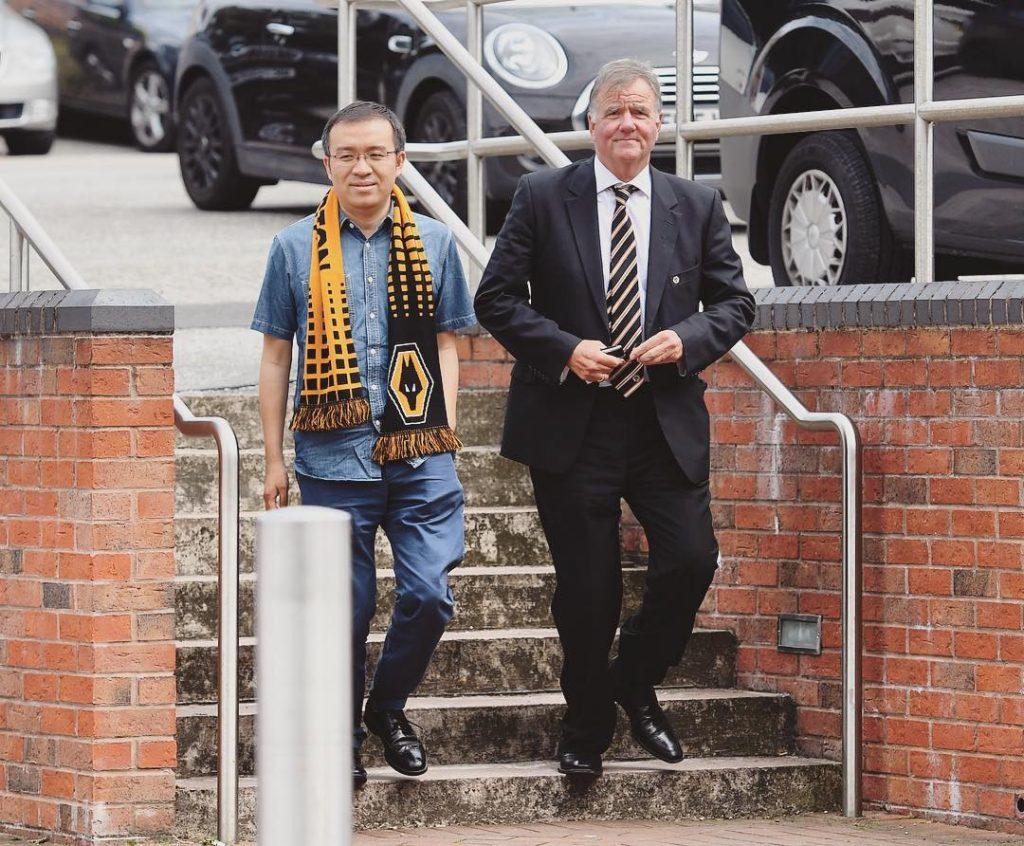 WolvesFosun representative Jeff Shi arrives at Vale Park for todayshellip