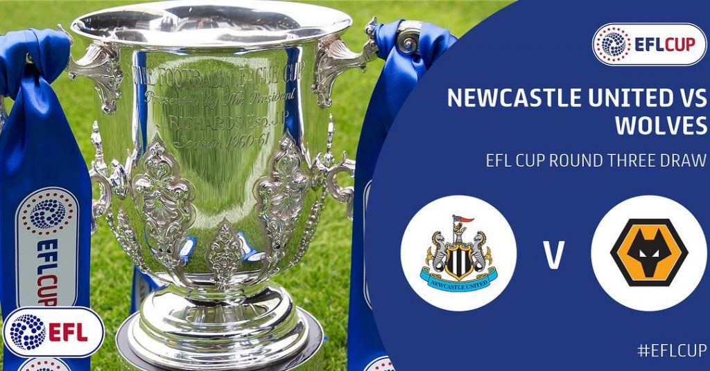 Wolves have been drawn away at nufc in Round Threehellip