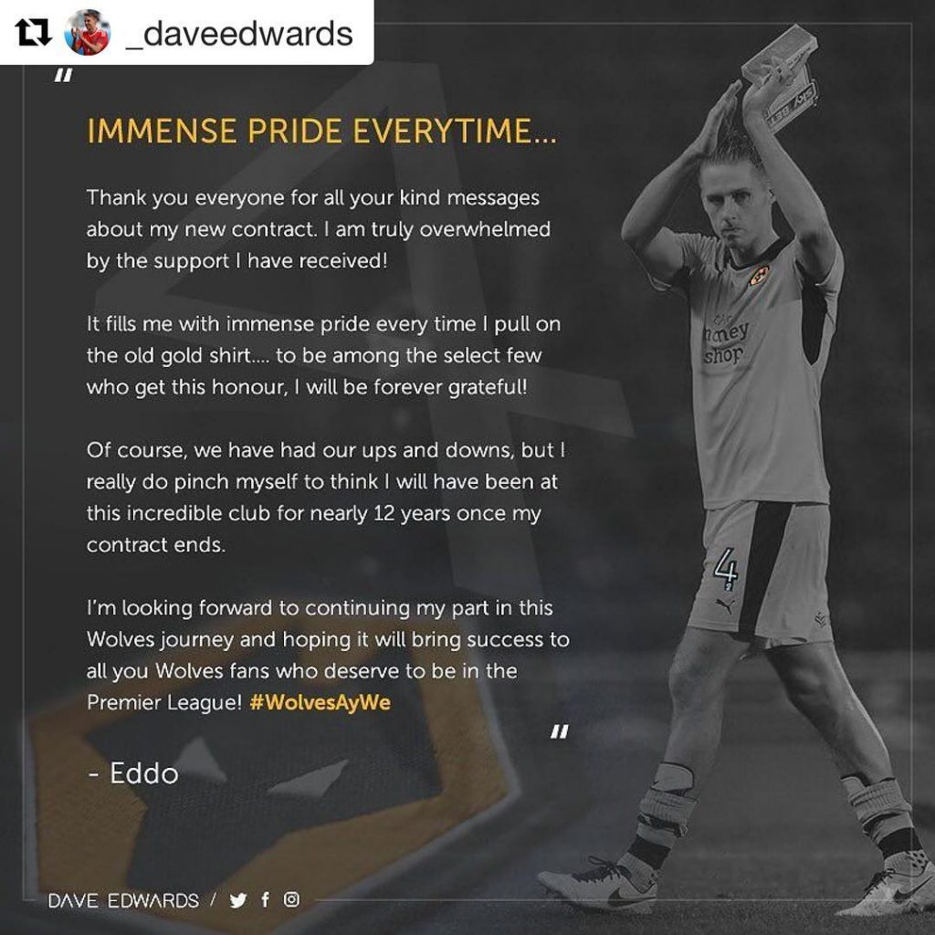 Repost daveedwards  pride wolves wwfc oldgold wolvesaywe 12years