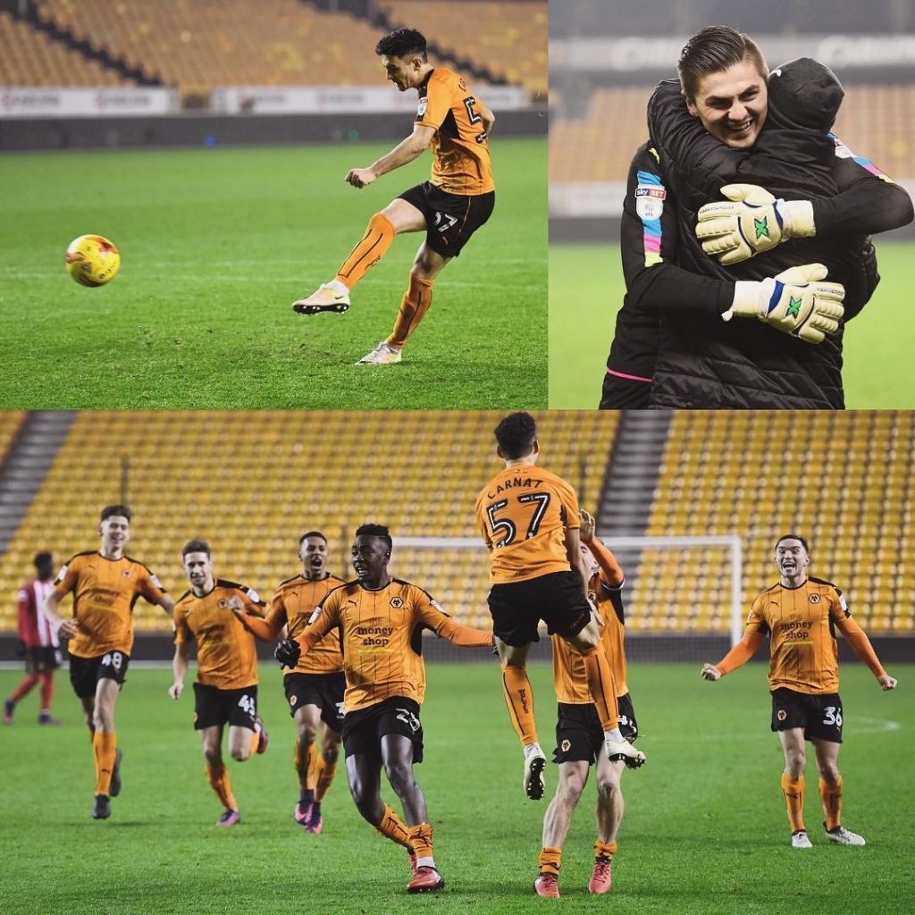 Great scenes of celebration at Molineux as Wolves progress inhellip